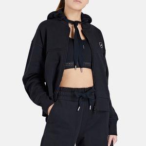 Stella McCartney Black Full-zipper Cropped Hoodie
